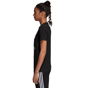 adidas Originals Trefoil Tee Damen T-Shirt black white CV9888 – Bild 4