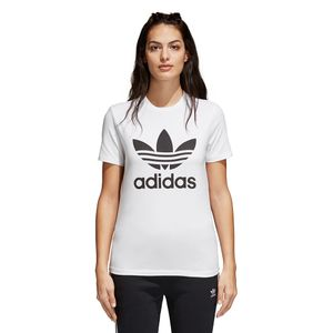 adidas Originals Trefoil Tee Damen T-Shirt white black CV9889 – Bild 2