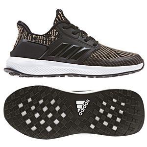 adidas RapidaRun KNIT C Kinderschuh schwarz olive weiß CQ0158 – Bild 2
