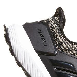 adidas RapidaRun KNIT C Kinderschuh schwarz olive weiß CQ0158 – Bild 7
