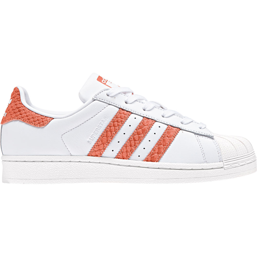 newest eb4d8 fafd8 adidas Originals Superstar W Damen Sneaker weiß orange CG546