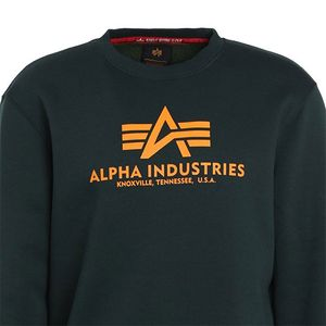 Alpha Industries Basic Sweater Pulli olive orange 178302 353 – Bild 2