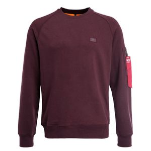 Alpha Industries X-Fit Sweat Pullover deep maroon 158320 21 – Bild 1
