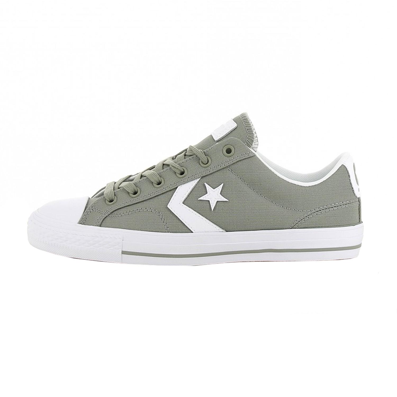 683b66436e6f95 Converse Star Player OX Herren Sneaker grau weiß 161072C ...