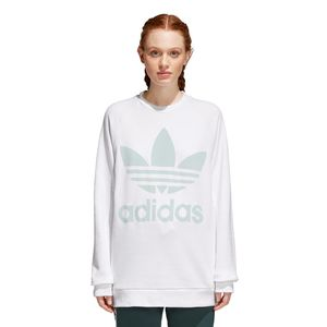 adidas Originals Trefoil Oversized Sweater Damen weiß mint CY4757 – Bild 3
