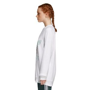 adidas Originals Trefoil Oversized Sweater Damen weiß mint CY4757 – Bild 6