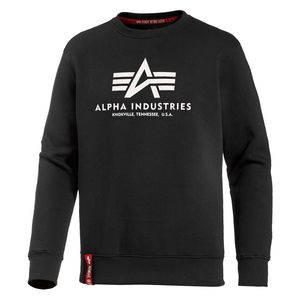 Alpha Industries Basic Sweater Pulli Herren schwarz weiß 178302 03 – Bild 1
