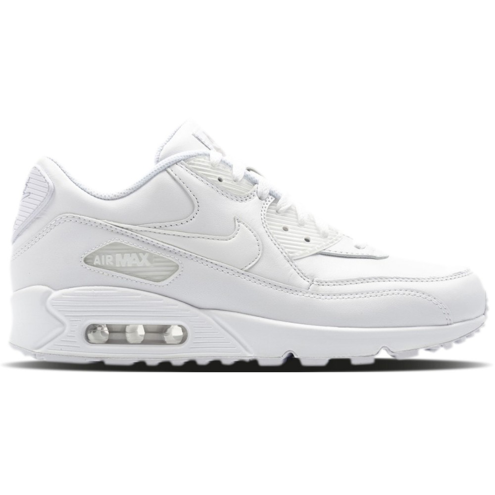 watch detailed look best supplier Nike Air Max 90 Leather Herren Sneaker weiß 302519 113