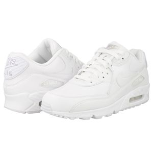 Nike Air Max 90 Leather Herren Sneaker weiß 302519 113 – Bild 2