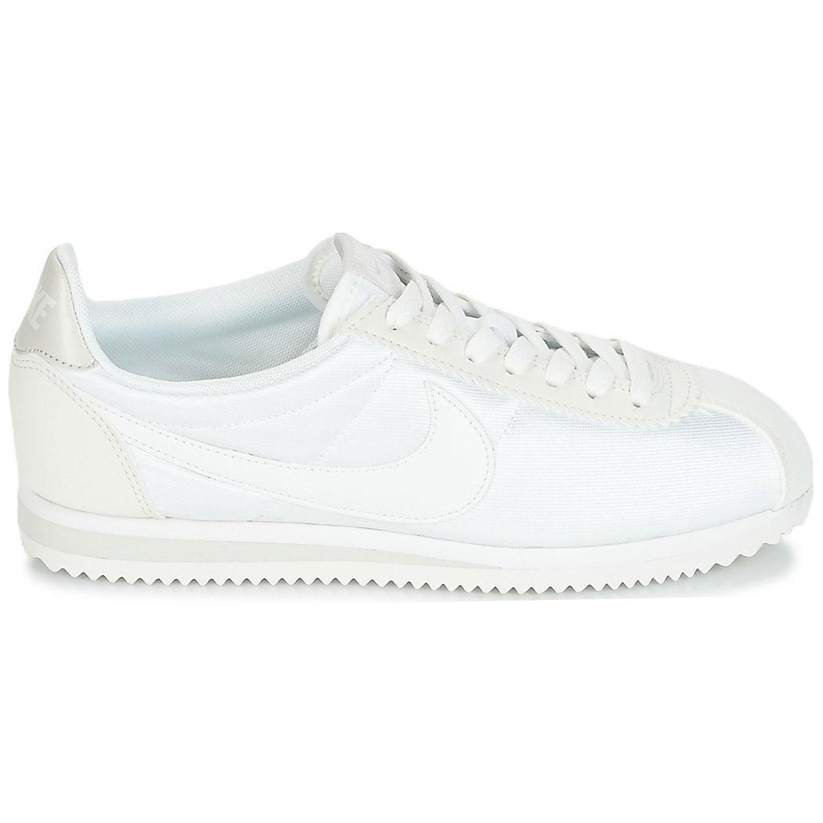 Nike WMNS Classic Cortez Nylon Damen Sneaker weiß beige 749864 103