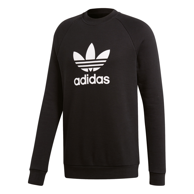 adidas Originals Trefoil Crew Pullover Herren schwarz weiß CW1235