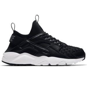 Nike Air Huarache Run Ultra SE Herren Sneaker schwarz weiß 875841 008 – Bild 1