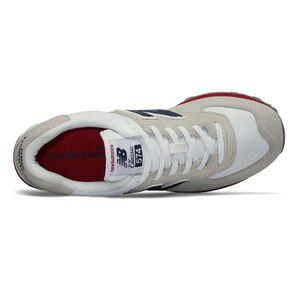 New Balance ML574ESA Herren Sneaker 638591-60-3 grau rot  – Bild 3