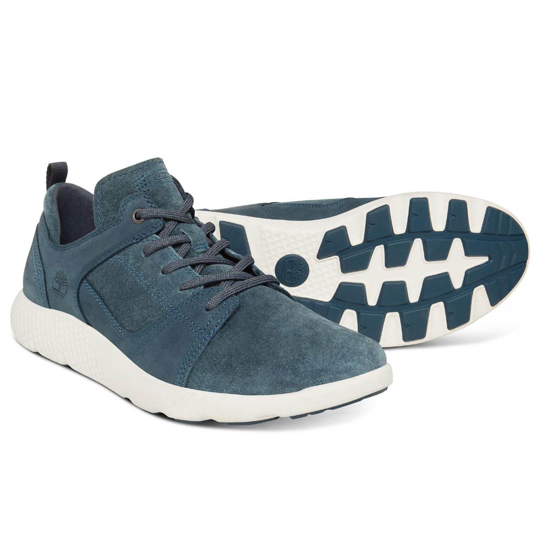 f7e94ebe0f9bea Timberland Flyroam Leather Herrenschuh blau A1OBS – Bild 3