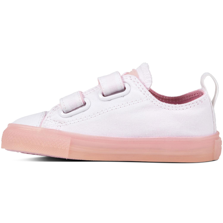1c0b74313d5677 Converse All Star 2V OX Chucks Kinder Klettschuh weiß pink 760750C ...