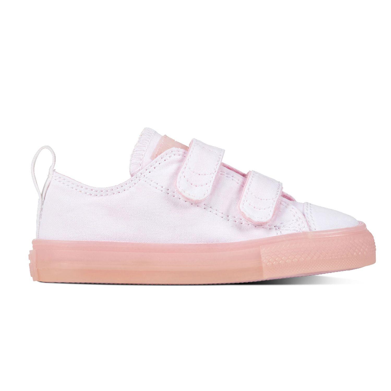 hot sale online fb6be 80e1b Converse All Star 2V OX Chucks Kinder Klettschuh weiß pink 760750C