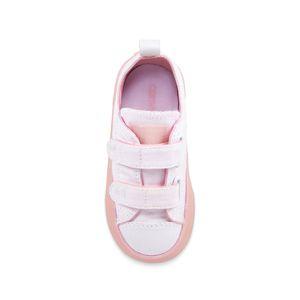 Converse All Star 2V OX Chucks Kinder Klettschuh weiß pink 760750C   – Bild 3