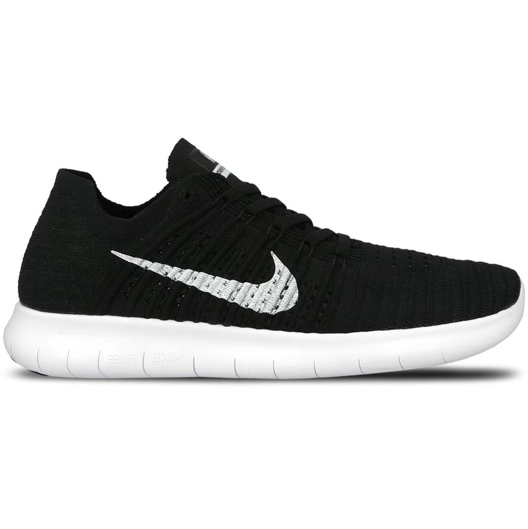 Nike Free RN Flyknit Herren Running Sneaker schwarz weiß 831069 001
