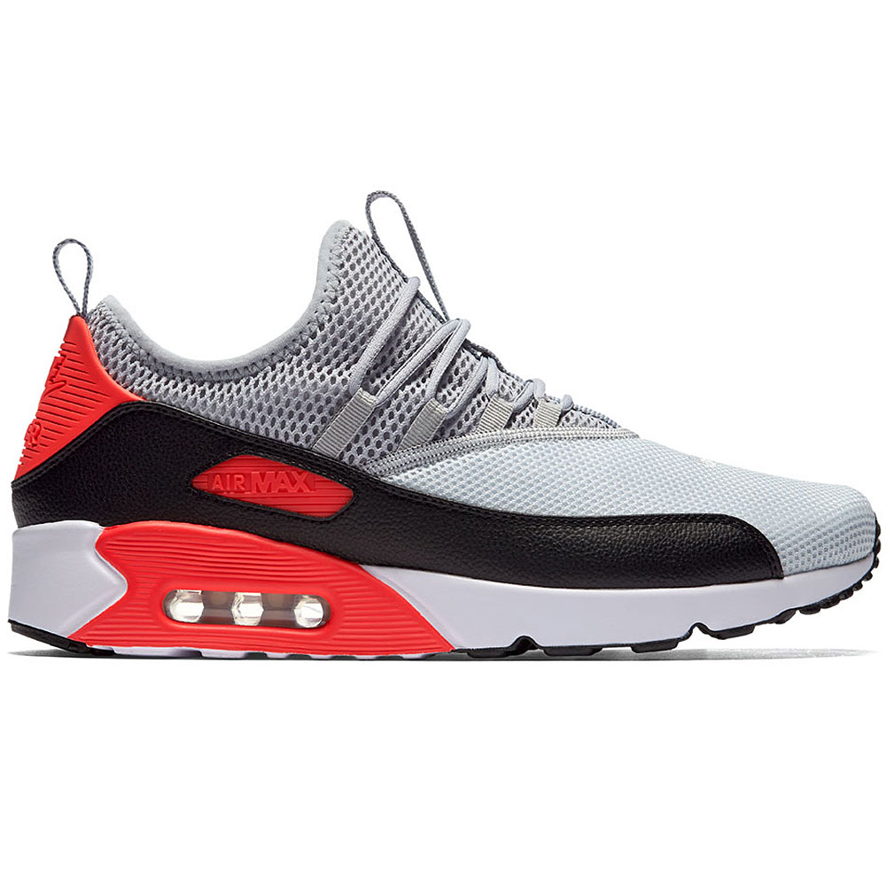 nike air max 90 ez herren sneaker grau schwarz rot ao1745 002. Black Bedroom Furniture Sets. Home Design Ideas