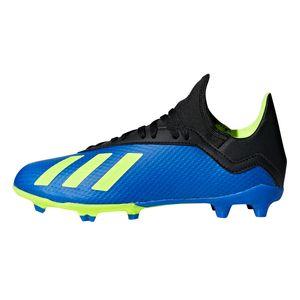 adidas X 18.3 FG J Kinder Fußballschuhe Nockenschuhe blau gelb DB2416 – Bild 2