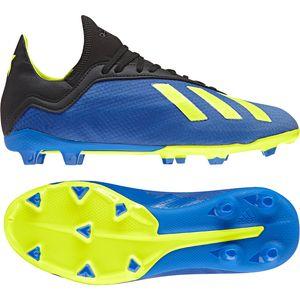 adidas X 18.3 FG J Kinder Fußballschuhe Nockenschuhe blau gelb DB2416 – Bild 3
