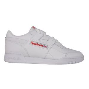 Reebok Workout Plus MU Sneaker Leder CN5203 white bright lava  – Bild 1