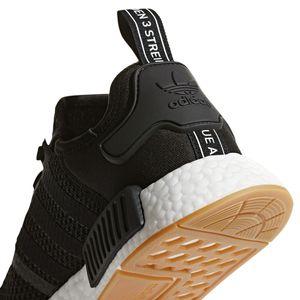 adidas Originals NMD_R1 Herren Sneaker schwarz weiß B42200 – Bild 3