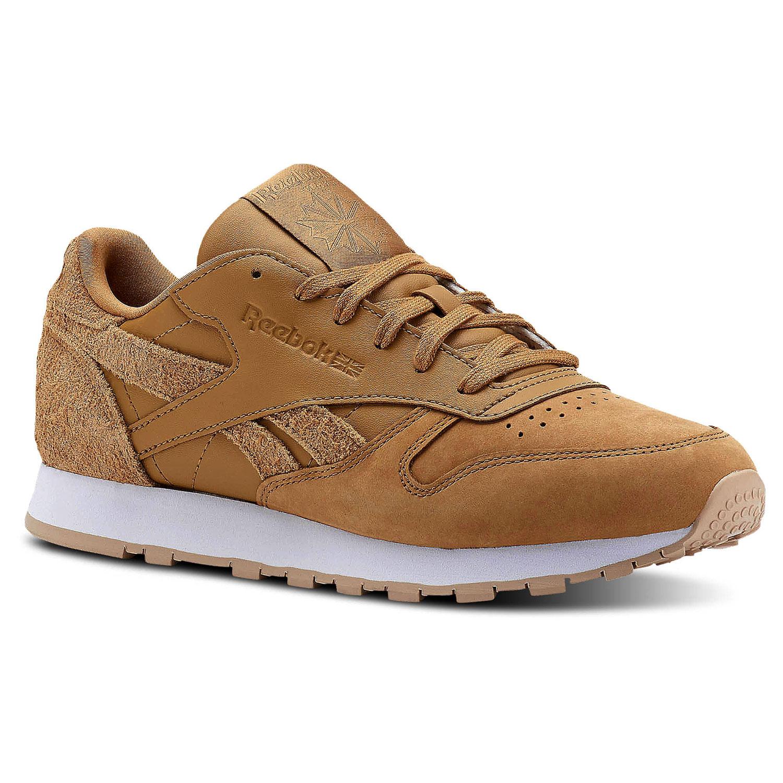 reebok classic leather damen sneaker beige braun cn2962