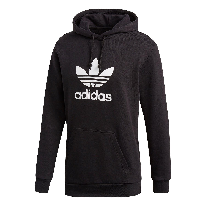 adidas originals trefoil hoodie herren schwarz wei dt7964. Black Bedroom Furniture Sets. Home Design Ideas