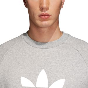 adidas Originals Trefoil Crew Warm Up-Sweater Herren grau weiß CY4573 – Bild 5