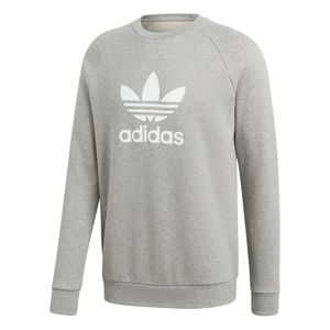 adidas Originals Trefoil Crew Warm Up-Sweater Herren grau weiß CY4573 – Bild 1