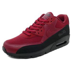 Nike Air Max 90 Essential Herren Sneaker black red crush AJ1285 010 – Bild 2