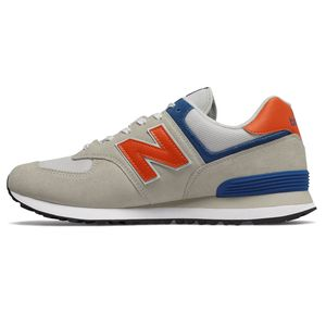 New Balance ML574SMG Herren Sneaker 657401-60 3 beige blau orange – Bild 2