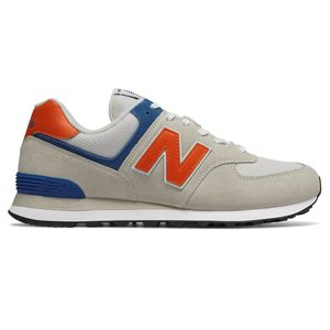 New Balance ML574SMG Herren Sneaker 657401-60 3 beige blau orange – Bild 1
