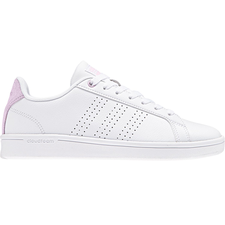 adidas neo Cloudfoam Advantage Clean Damen Sneaker weiß pink DB0893