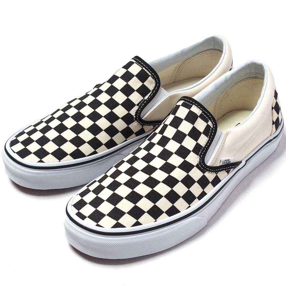 Vans Classic Slip-On Checkerboard Slipper beige schwarz VN000EYEBWW – Bild 3 3ad252ddb