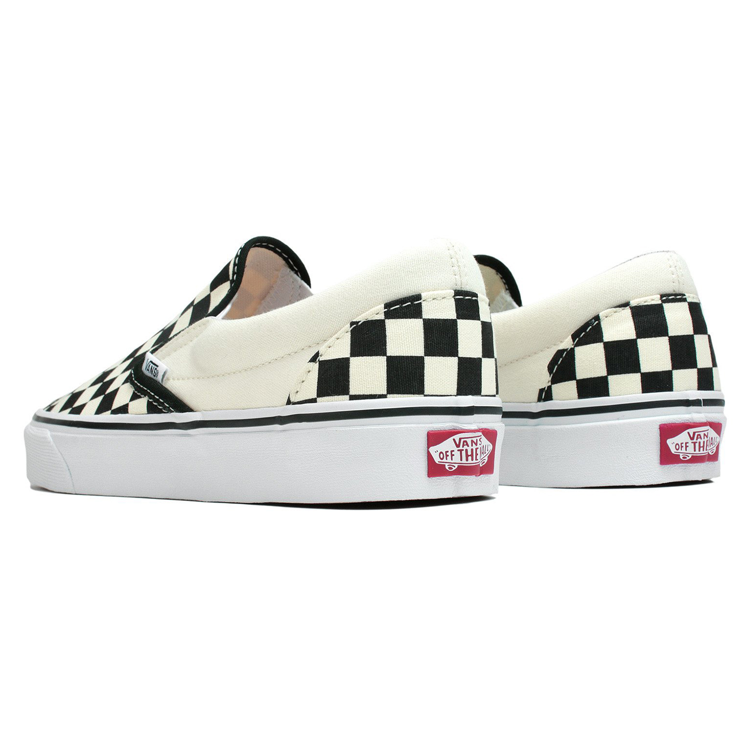 Vans Classic Slip-On Checkerboard Slipper beige schwarz VN000EYEBWW – Bild 2 51499f631