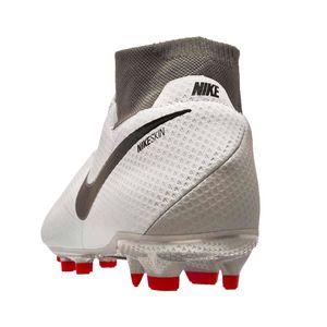 Nike Phantom VSN Pro DF FG Fußballschuhe grau rot AO3266 060 – Bild 3