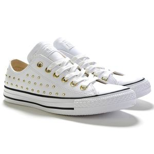 Converse CT AS OX Chuck Taylor All Star weiß gold 561684C – Bild 3