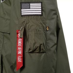 Alpha Industries NASA Anorak Herrenjacke dark green 188133/257  – Bild 3