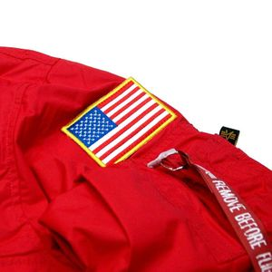 Alpha Industries NASA Anorak Herrenjacke speed red 188133/328 – Bild 2