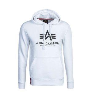 Alpha Industries Basic Hoody Herren Pullover weiß schwarz 178312 09