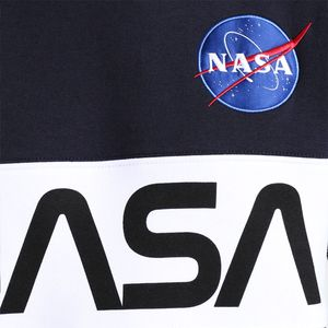 Alpha Industries NASA Inlay Sweater blau weiß 178308/07 – Bild 2