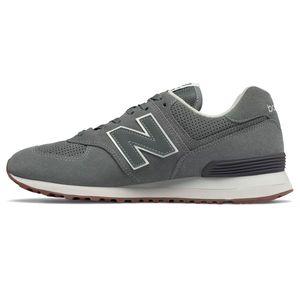 New Balance ML574ESJ Herren Sneaker low grau weiß – Bild 2
