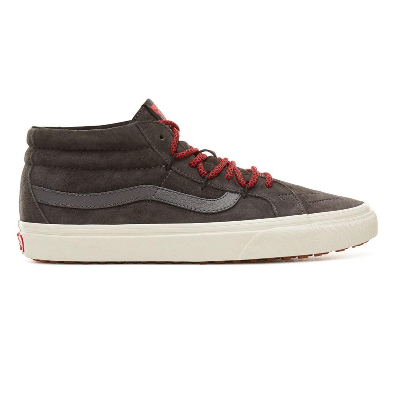 sale retailer e2ef1 c141c Vans SK8-Mid MTE Herren Sneaker grau weiß rot VN0A3TKQUCR