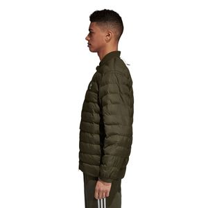 adidas Originals SST Outdoor Jacket Herren Steppjacke olive DJ3193 – Bild 3