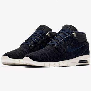 Nike Stefan Janoski Max Mid Herren Sneaker schwarz blau 807507 005 – Bild 2