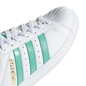adidas Originals Superstar Damen Sneaker weiß grün B41995 – Bild 3