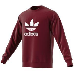 adidas Originals Trefoil Crew Pullover Herren maroon DM7835 – Bild 1