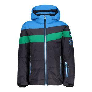 Campagnolo Boys Ski Jacke Snaps Hood Skijacke grau blau grün  – Bild 1